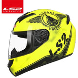 LS2 Helmets Yellow knight / XL LS2 FF352 Full Face Motorcycle Helmet