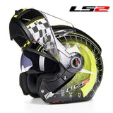 LS2 Helmets Yellow Speed / L LS2 FF370 Men Flip Up Motorcycle Helmet