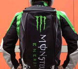 FirstGearMoto Backpack Monster Energy Motorcycle Helmet Backpack