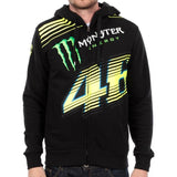 Monster Energy Hoodies S Valentino Rossi Black Monster Energy VR46 Monza Zip Hoodie