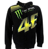 Monster Energy Hoodies Valentino Rossi Black Monster Energy VR46 Monza Zip Hoodie