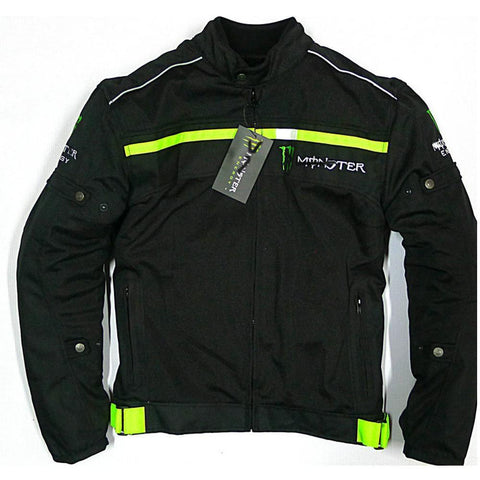 Kawasaki Monster energy Motorcycle Windproof Mesh Jacket