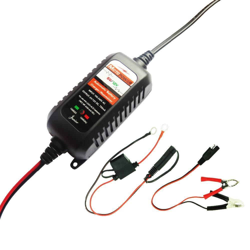 Motopower 6v 12v 750ma Fully Automatic Smart Battery Charger Note Or You Can Use This 6v12v With Chargers