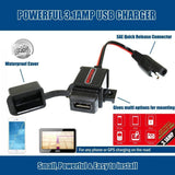 Motopower Battery Chargers Motopower MP0609A 3.1Amp Waterproof Motorcycle USB Charger SAE to USB Adapter
