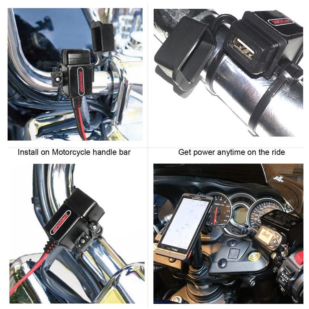 Motopower Mp0609a 31amp Waterproof Motorcycle Usb Charger Sae To 6v 12v Car Battery Maintainer 750ma Lead Acid Chargers Adapter