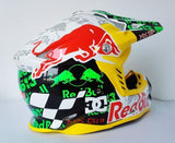 Red Bull Helmets Red Bull Motocross Helmet Off Road Dirt Bike MX