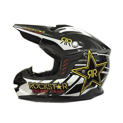 Rockstar Energy Drink M13 Assault Off-Road Dirt bike motocross ATV Motorcycle Helmet
