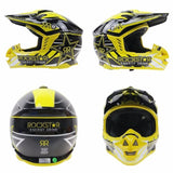 RockStar Helmets Rockstar Energy Drink J12 Off-Road Dirt bike motocross ATV Motorcycle Helmet