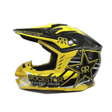 RockStar Helmets Yellow star / S Rockstar Energy Drink J12 Off-Road Dirt bike motocross ATV Motorcycle Helmet