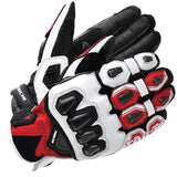 Rs Taichi Gloves M / White/Red RS Taichi RST422 LEATHER GLOVE