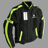 Suzuki Jackets Green / M Suzuki motorcycle textile oxford waterproof jacket with protectors