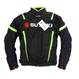 FirstGearMoto Jackets S Suzuki motorcycle textile oxford waterproof jacket with protectors