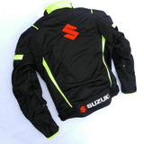 FirstGearMoto Jackets Suzuki motorcycle textile oxford waterproof jacket with protectors
