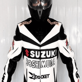 SUZUKI PU Leather Motorcycle Racing Jacket