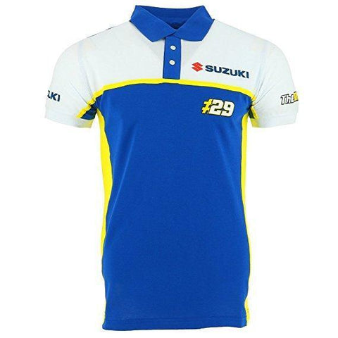 Andrea Iannone 29 Suzuki Team Moto GP Panel Polo Shirt Official 2018