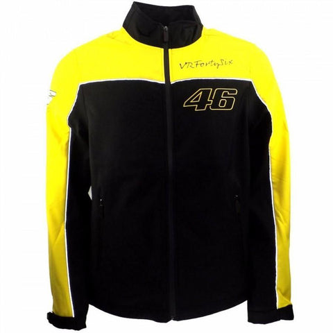 Valentino Rossi VR46 Black and Yellow Casual Soft Jacket
