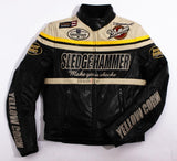 Yellow corn Jackets Black Ivory / M Yellow Corn BB-5304 Motorcycle Windproof PU Leather JACKET