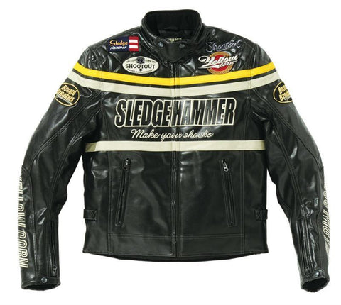 Yellow Corn BB-5304 Motorcycle Windproof PU Leather JACKET