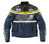 Yellow corn Jackets Blue Black / M Yellow Corn BB-5304 Motorcycle Windproof PU Leather JACKET