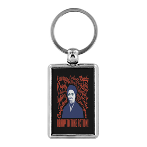 Harriet Tubman Courageous, Confident, Controlled and Ready For Action Keychain