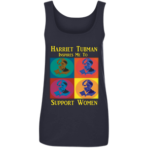 Harriet Tubman Support Women Ladies' 100% Ringspun Cotton Tank Top