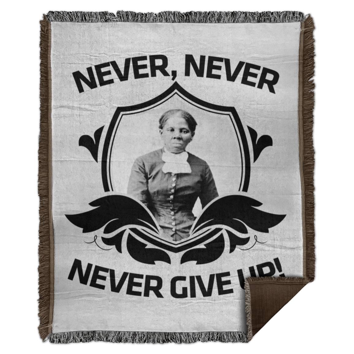 Harriet Tubman Never, Never, Never Give Up! Apron