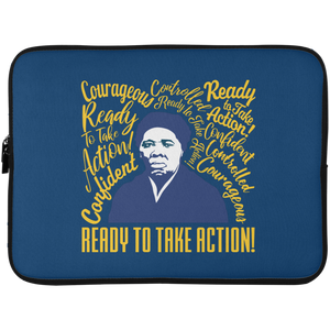 Harriet Tubman Ready to Take Action Laptop Sleeve - 15 Inch