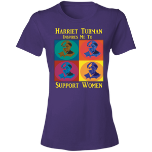 Harriet Tubman Inspires Us to Support Women Lightweight T-Shirt 4.5 oz