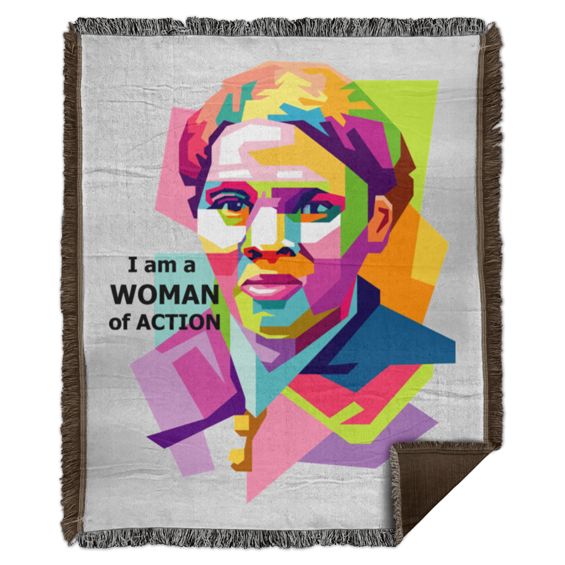 Harriet Tubman A Woman of Action - Woven Blanket - 50x60
