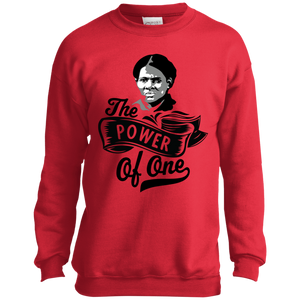 The Power Of One!  Port and Co. Youth Crewneck Sweatshirt
