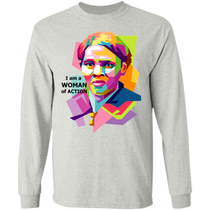Woman of Action -  LS Ultra Cotton T-Shirt
