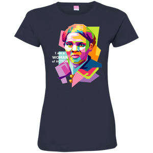 Harriet Tubman A Woman of Action Ladies' Fine Jersey T-Shirt
