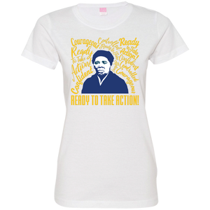 Harriet Tubman Ready to Take Action! Ladies' Fine Jersey T-Shirt