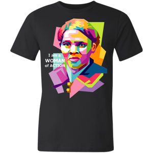 Harriet Tubman- A Woman of Action Unisex Made in the USA Jersey Short-Sleeve T-Shirt
