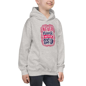 Harriet Tubman Never, Never, Never Give Up Kids Hoodie