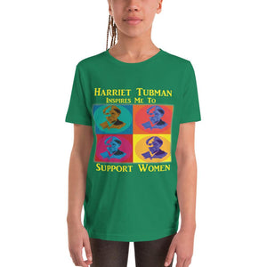 Harriet Tubman Inspires Us to Support Women Youth Short Sleeve T-Shirt