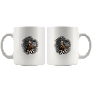 Harriet Tubman image  with Aim for the Stars  on a 11 oz mug