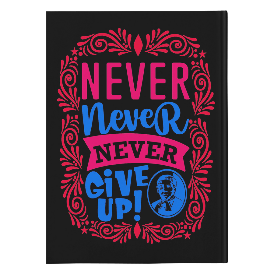 Harriet Tubman Never Give Up journal black