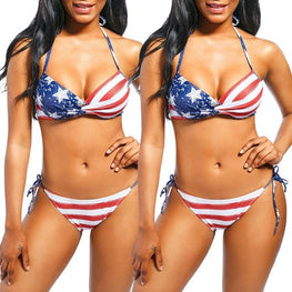 Women Bikini Set Flag Printed