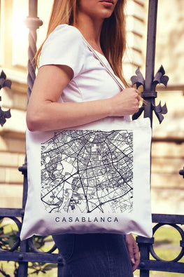 Casablanca Map Morocco Gifts Casablanca Print