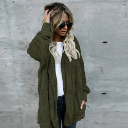 Women Hooded Long Coat Jacket