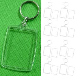 Transparent Blank Picture Frame Key Ring