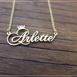 Personalized Name Crown Necklace Handmade