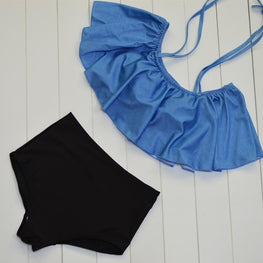 Women Swimwear High Waist Halter Bikini Set