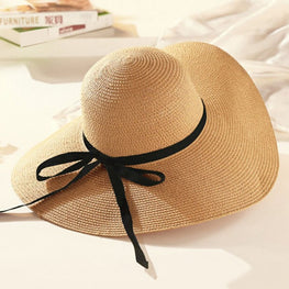 Round Raffia Wide Brim Straw Hats