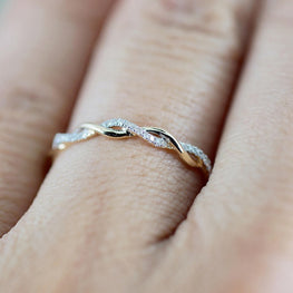Flawless Twisted Shape Rings