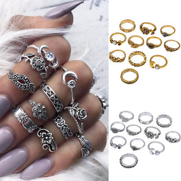 Silver Stack Rings Above Knuckle