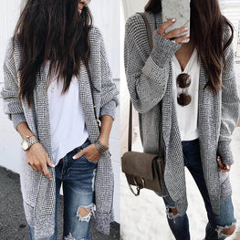 Knitted Open Front tops Women Jacket