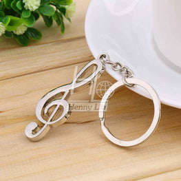 Key Ring Silver Plated Musical Keychain