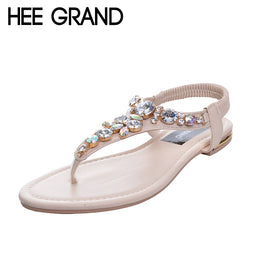 Rhinestone Fashion Women Sandals Summer Flat
